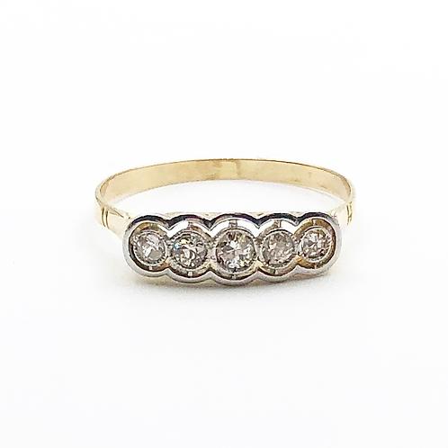Antique 5 Stone Diamond Ring