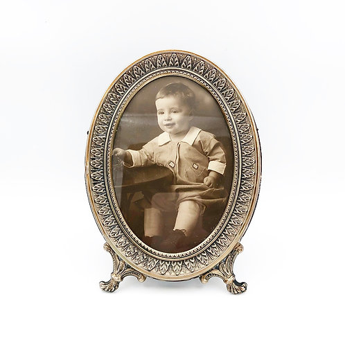 Silver Oval Picture Frame