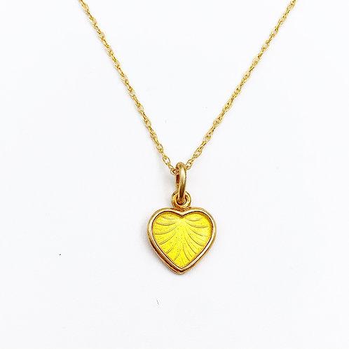 Enamel Danish Heart Earrings