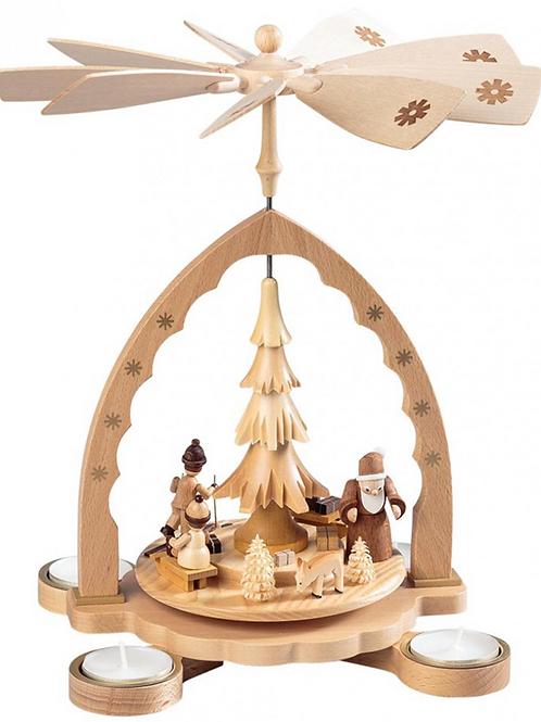 German Santa Claus and Children Pyramid