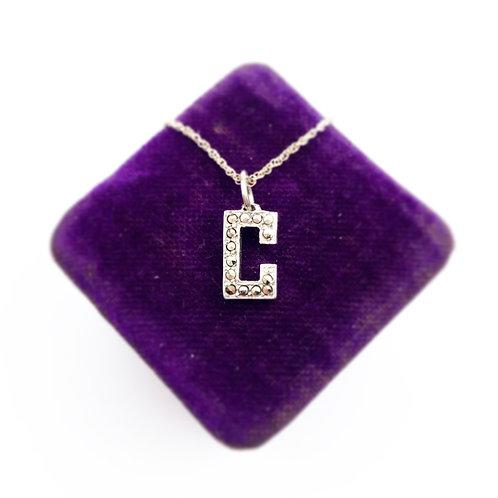 """""""C"""" Marcasite Pendant"""