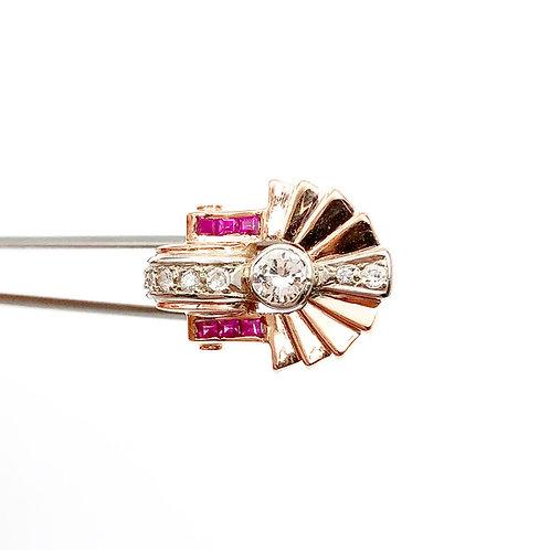 Art Deco Diamond & Ruby Ring