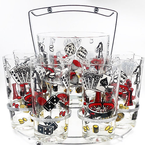 Party Caddy With Glasses & Ice bucket