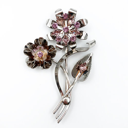 French Paste Flower Brooch