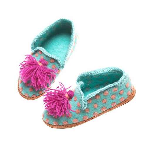 Polka Dot Slippers