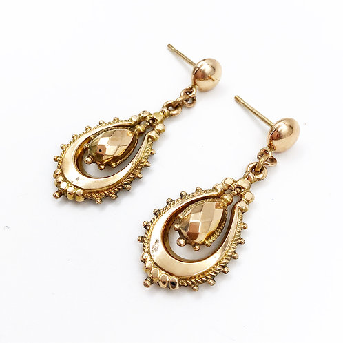Yellow Gold English Earrings