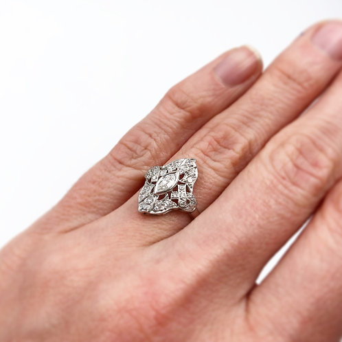 Stunning Art Deco Cocktail Ring
