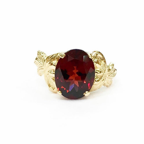 Art Deco Garnet Ring