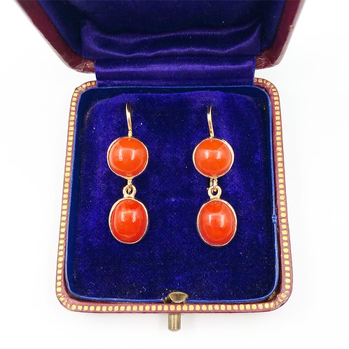 Classic Coral Earrings