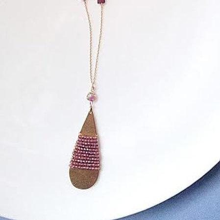 """Rhodalite Garnet 28"""" Necklace"""