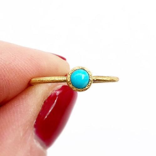 Bezel Set Turquoise Ring