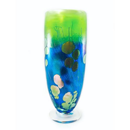 Lily Pad Art Glass Vase