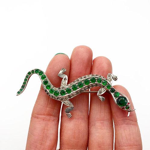 Art Deco Lizard Brooch