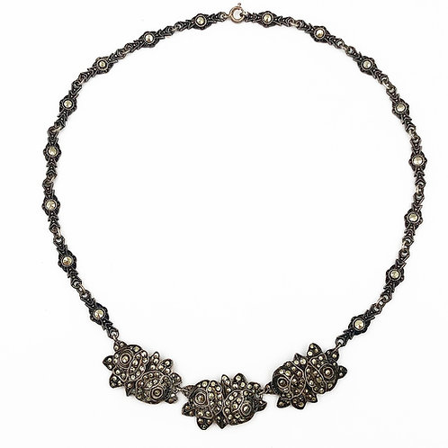 Marcasite Rose Necklace