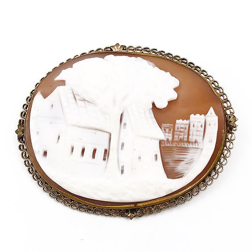Hand Carved Landscape Cameo