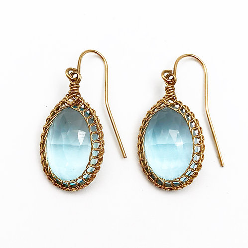 Gorgeous Blue Topaz Drop Earrings