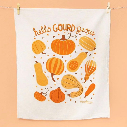 Hello Gourd-geous Dish Towel