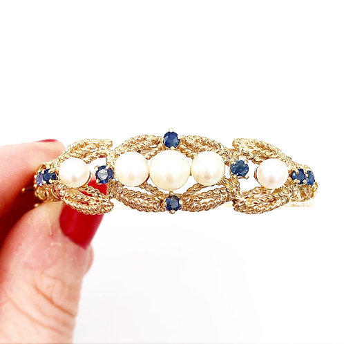 Pearl & Sapphire Bracelet