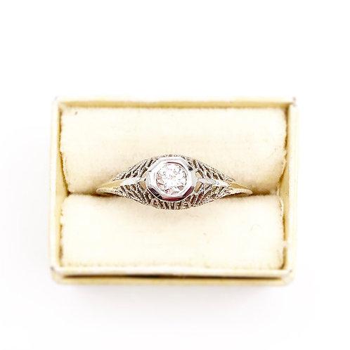 Edwardian Era Solitaire Engagement Ring
