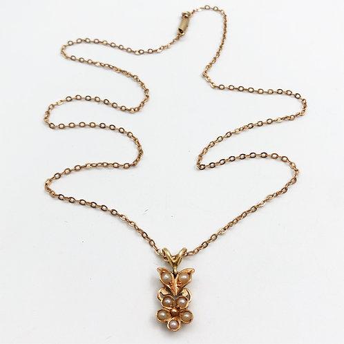 Petite Pearl Flower Pendant