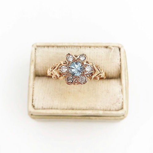 Aquamarine Victorian Ring