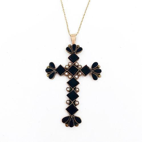 Onyx & Pearl Cross