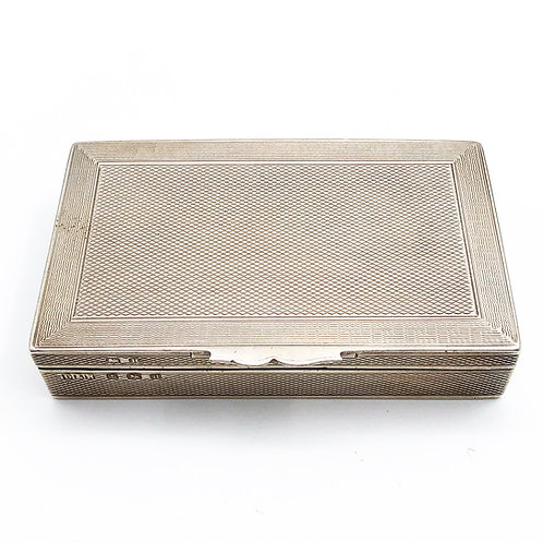 Sterling Pill Box With Compartments