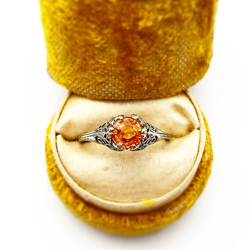Edwardian Era Gold Sapphire Ring