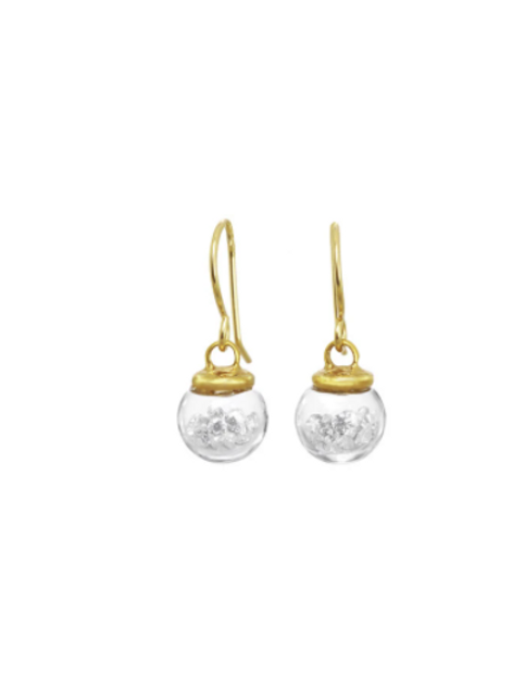 White Crystal Earrings Small