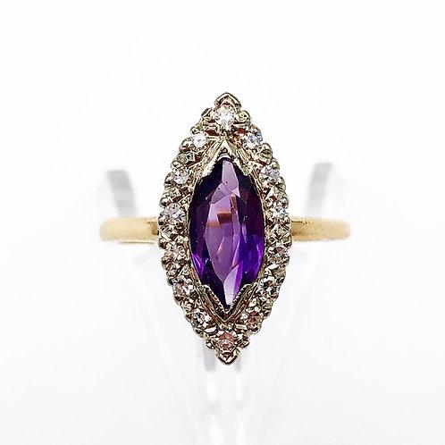 Gorgeous Amethyst & Diamond Halo Ring