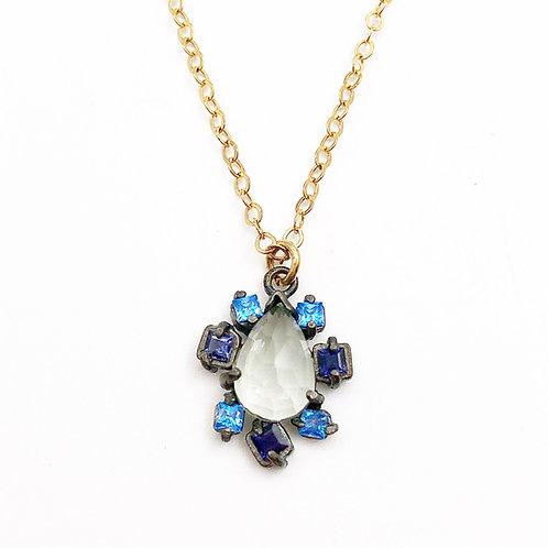 Beautiful Blue Topaz Necklace