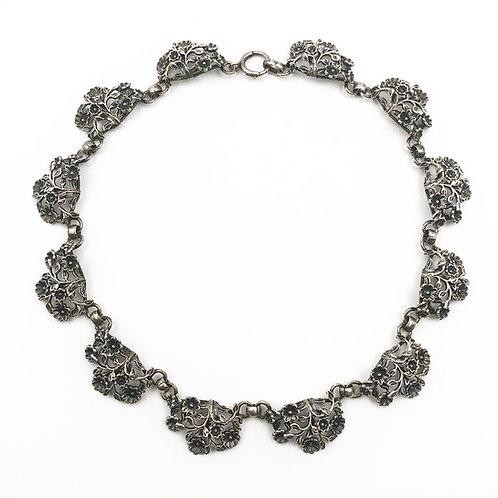 Sterling Floral Necklace