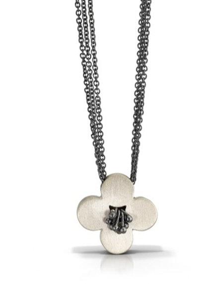 Sterling Flower Necklace
