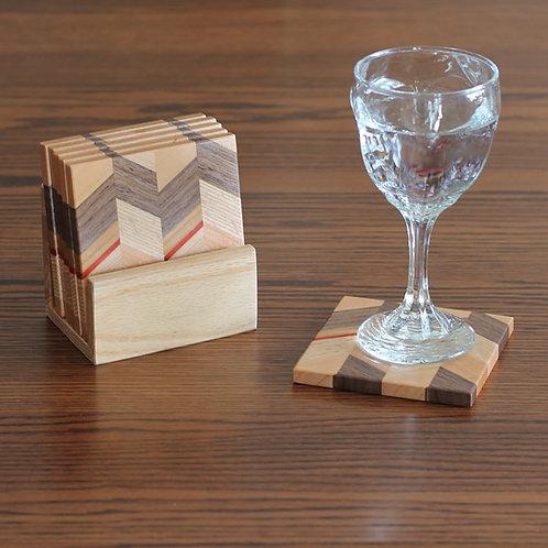 Wood Zig Zag Coasters