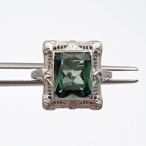 RARE Green Tourmaline Ring