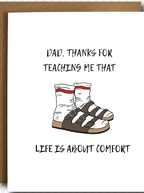 Dad, Thanks For Teaching Me That Life Is About Comfort