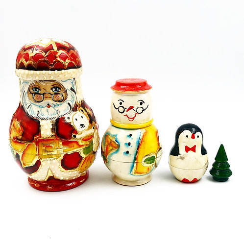 4 Piece Christmas Nesting Doll