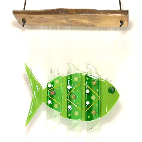 Green Fish Wind Chime