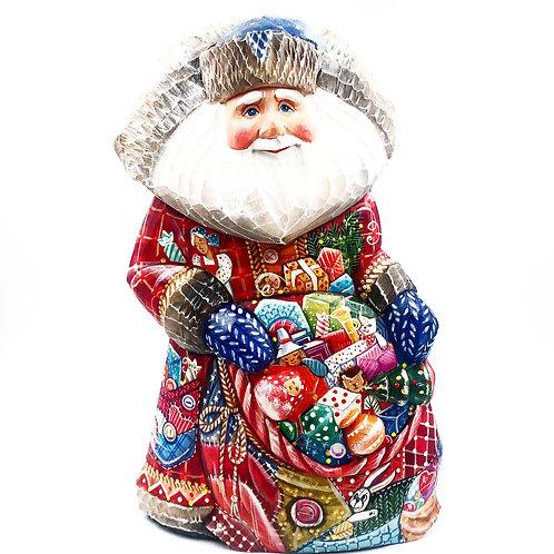 Russian Carved Santa