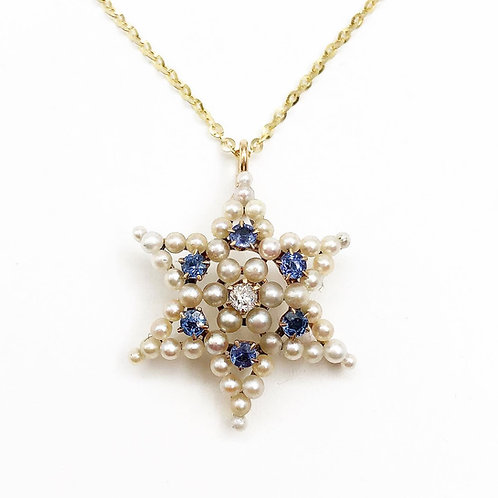Very Rare Star of David Necklace