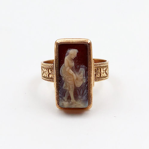 Stone Cameo Ring