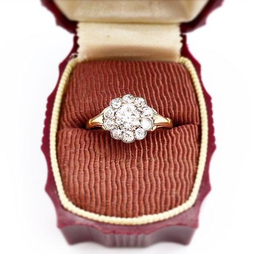 Antique Diamond Halo Ring