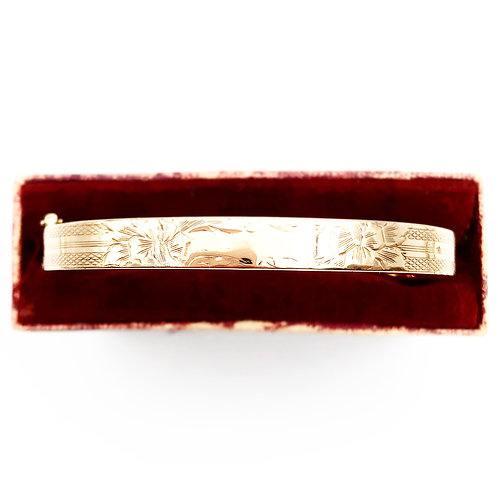 Beautiful Engraved Bangle Bracelet
