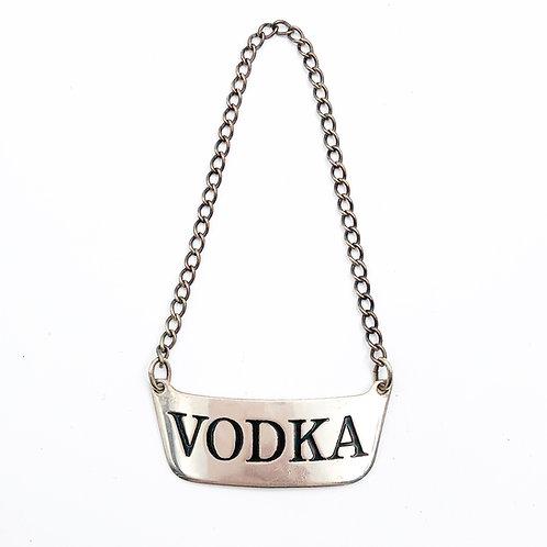 Sterling Vodka Collar Tag