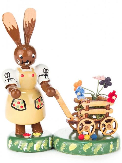 Eastern Bunny Pulling Flower Cart