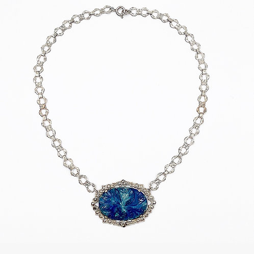 Carved Sodalite Necklace