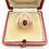 Thumbnail: Art Deco Oval Cut Ruby & Diamond Ring
