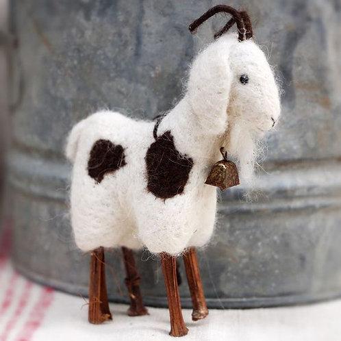 Needle Felt Goat Ornament