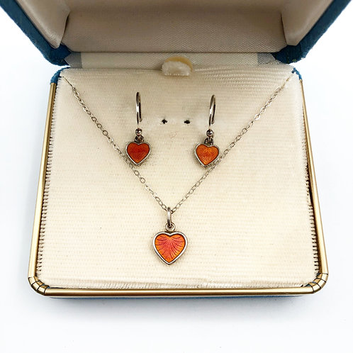 1940's Danish Necklace & Earrings Set