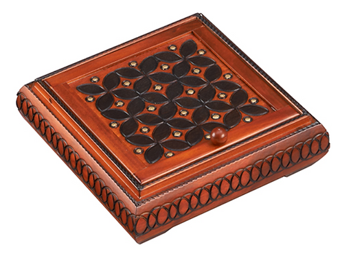 Wooden Jewelry Box with Partitions